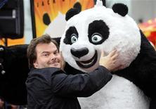 """Jack Black na estreia de """"Kung Fu Panda 2"""" em Los Angeles. 22/05/2011 REUTERS/Phil McCarten"""