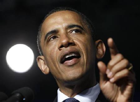 U.S. President Barack Obama speaks in Raleigh-Durham, June 13, 2011. REUTERS/Larry Downing