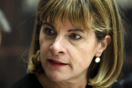 6月16日、フランス政府は、同国の原子力大手アレバのアンヌ・ローベルジョンCEOが任期満了に伴い退任すると発表。昨年12月撮影(2011年 ロイター/Charles Platiau)