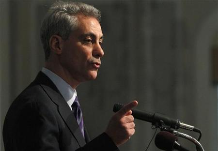 Chicago mayor-elect Rahm Emanuel answers a question during his first news conference after winning the election in Chicago February 23, 2011. Emanuel takes office May 16. REUTERS/Frank Polich