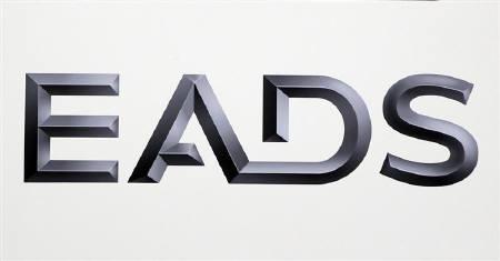 6月19日、パリ─東京間を2時間半で飛ぶという超音速旅客機計画をエアバスの親会社EADSが発表。写真は同社のロゴ。1月撮影(2011年 ロイター/Charles Platiau)