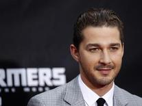 "<p>Cast member Shia LaBeouf arrives for the premiere of ""Transformers: Dark of The Moon"" in Times Square in New York June 28, 2011. REUTERS/Lucas Jackson</p>"