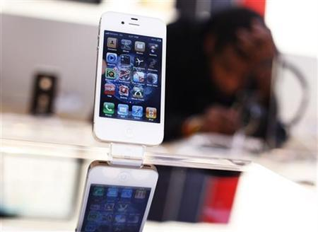 An iPhone is seen at the Apple store in New York May 23, 2011. REUTERS/Shannon Stapleton