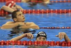 Nadador Cesar Cielo se classificou neste domingo para a final dos 50 metros nado borboleta no Mundial de Natação de Xangai. REUTERS/Christinne Muschi