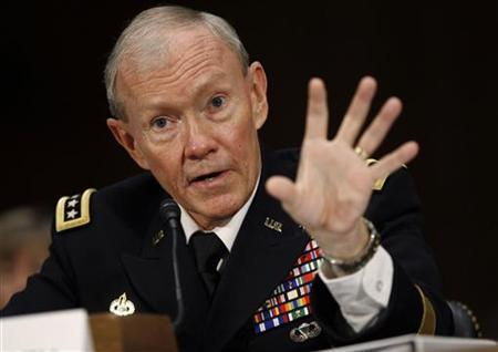 U.S. Army General Martin Dempsey speaks at his confirmation hearing for Chairman of the Joint Chiefs of Staff, on Capitol Hill in Washington, July 26, 2011. REUTERS/Jason Reed