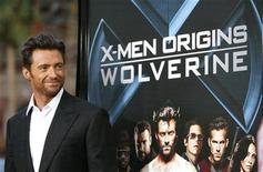 "<p>Cast member Hugh Jackman poses at an industry screening of ""X-Men Origins: Wolverine"" at the Grauman's Chinese theatre in Hollywood, California in this April 28, 2009 file photo. REUTERS/Mario Anzuoni</p>"