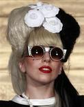 Леди Гага на пресс-конференции в Тайбей, 4 июля 2011 года. Фотокнига о поездках и работе в звукозаписывающей студии поп-звезды Леди Гага выйдет в этом году, сообщило издательство Grand Central Publishing. REUTERS/Nicky Loh