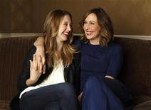 "<p>Director and cast member Vera Farmiga and her sister and cast member Taissa Farmiga pose for a portrait while promoting their upcoming movie ""Higher Ground"" in Los Angeles, August 23, 2011. REUTERS/Mario Anzuoni</p>"