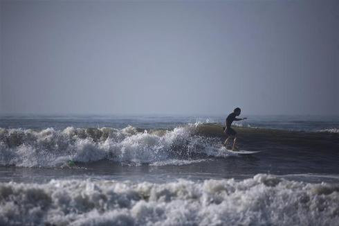 Surfing Hurricane Irene