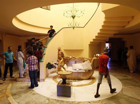 Inside Aisha Gaddafi's palace