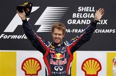O piloto Sebastian Vettel venceu o Grande Prêmio da Bélgica no domingo. 28/08/2011 REUTERS/Francois Lenoir
