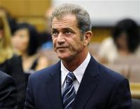 O ator Mel Gibson em audiência em Los Angeles, Estados Unidos, sobre caso judicial com sua ex-namorada Oksana Grigorieva. 31/08/2011 REUTERS/Kevork Djansezian/Pool