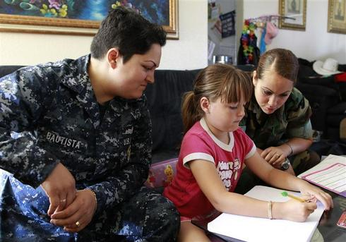A gay military family