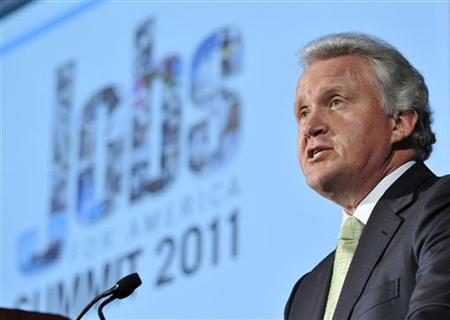 General Electric CEO Jeff Immelt makes a speech during a ''Jobs for America Summit'' at the U.S. Chamber of Commerce in Washington, July 11, 2011. REUTERS/Jonathan Ernst