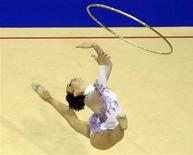 A brasileira Angélica Kvieczynski compete na final por aparelhos no Pan de Guadalajara. Ela conquistou três medalhas de bronze na competição.  REUTERS/Lucy Nicholson