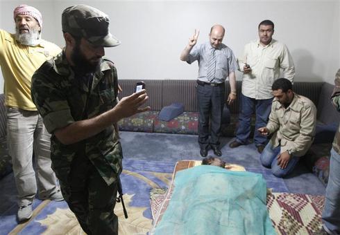 The death of Gaddafi