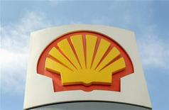 A logo on a Shell petrol station in a file photo.  REUTERS/Toby Melville