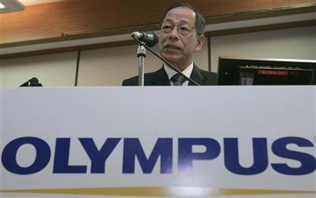 Japanese medical equipment and digital camera maker Olympus Corp President  Tsuyoshi Kikukawa speaks during a news conference in Tokyo November 19, 2007.  REUTERS/Yuriko Nakao
