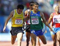 O brasileiro Leandro Prates vence a prova dos 1.500m em Guadalajara nesta quarta-feira.   REUTERS/Jorge Silva