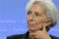 """Глава МВФ Кристин Лагард на пресс-конференции в Вашингтоне, 24 сентября 2011 г. Международный валютный фонд (МВФ) советует Казахстану решить проблему """"плохих кредитов"""" и не верит в рост кредитного портфеля банков в 2011 году. REUTERS/Jonathan Ernst"""
