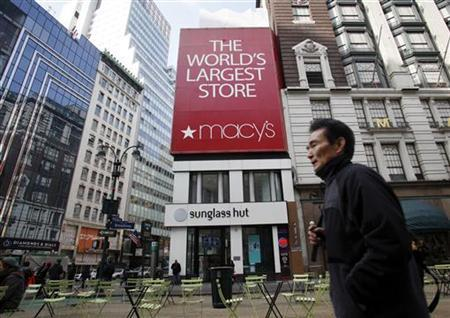 dbbf9048bf A man walks past the Macy s flagship department store in Herald Square in  New York March 2