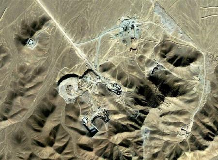A suspected uranium-enrichment facility near Qom, 156 km (97 miles) southwest of Tehran, is seen in this September 27, 2009 satellite photograph released by DigitalGlobe on September 28, 2009. REUTERS/DigitalGlobe/Handout/Files