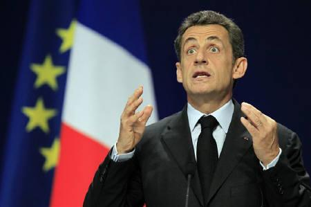 France's President Nicolas Sarkozy gestures during a news conference on the second day of the G20 Summit in Cannes November 4, 2011. Sarkozy branded Israeli PM Benjamin Netanyahu ''a liar'' in a private conversation with US President Obama that was accidentally broadcast to journalists during last week's G20 summit in Cannes. REUTERS/Charles Platiau