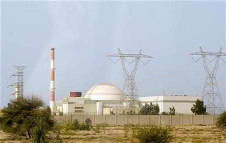 A general view shows the reactor at the nuclear power plant in Bushehr, 1200 kilometers (746 miles) south of Tehran February 25, 2009. REUTERS/Caren Firouz
