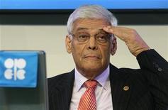 Генеральный секретарь ОПЕК Абдулла аль-Бадри на конференции ОПЕК в Вене, 8 ноября 2011 г. Организация стран-экспортеров нефти (ОПЕК) не ждет значительного роста цен на нефть предстоящей зимой из-за достаточного предложения, говорится в документе организации. REUTERS/Heinz-Peter Bader