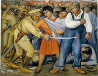 """<p>""""The Uprising"""" By Diego Rivera is seen in a handout photo. REUTERS/MOMA/Handout</p>"""