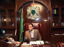 Saadi Gaddafi, a son of former Libyan leader Muammar Gaddafi, speaks in Tripoli January 31, 2010.  REUTERS/Ismail Zetouny