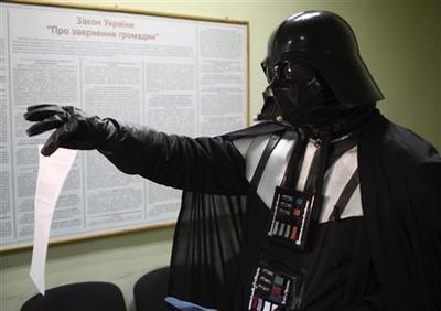 Darth Vader claims land plot in Ukraine