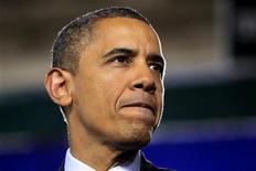 Президент США Барак Обама комментирует  законопроект о занятости в Манчестере, 22 ноября 2011 г. Президент США Барак Обама усилит давление на лидеров Евросоюза на саммите в Вашингтоне в понедельник с целью ускорить борьбу с долговым кризисом региона. REUTERS/Kevin Lamarque