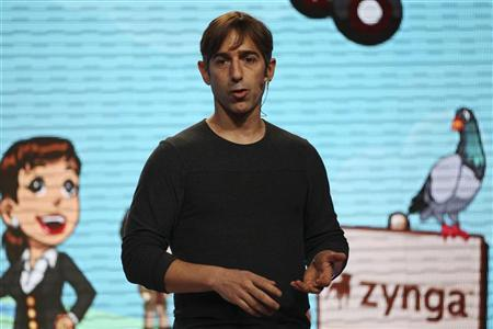 Zynga CEO Mark Pincus speaks during the Zynga Unleashed event at the company's headquarters in San Francisco, California October 11, 2011. REUTERS/Stephen Lam