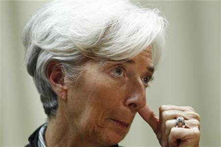 International Monetary Fund Managing Director Christine Lagarde gestures during a news conference in Brasilia December 1, 2011. REUTERS/Ueslei Marcelino