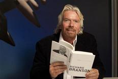"""<p>Richard Branson poses for a portrait in support of his new book, """"Screw Business As Usual"""" at the Virgin Offices in New York, December 1, 2011. REUTERS/Andrew Burton</p>"""
