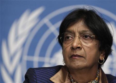 12月12日、ピレイ国連人権高等弁務官は、国連安全保障理事会でシリアの人権状況について報告し、約9カ月に及ぶ反政府デモへの弾圧による死者が5000人を超えたと語った。写真は1日、ジュネーブで撮影(2011年 ロイター/Denis Balibouse)