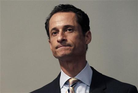 U.S. Representative Anthony Weiner (D-NY) announces that he will resign from the U.S. House of Representatives during a news conference in Brooklyn, New York, June 16, 2011.  REUTERS/Mike Segar