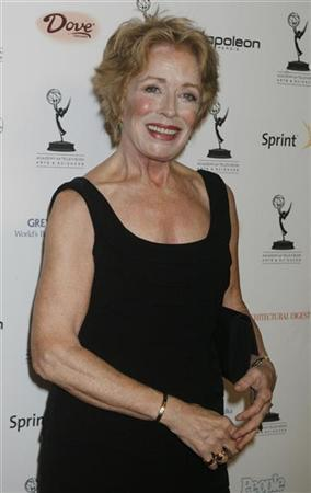Actress Holland Taylor, Outstanding Supporting Actress In A Comedy Series nominee for her role in ''Two and a Half Men'', poses at the Academy of Television Arts & Sciences Primetime Emmy Awards Nominees for Outstanding Performance reception in Los Angeles, California in this September 19, 2008 file photo.  REUTERS/Fred Prouser