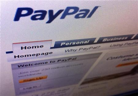 A page from the PayPal website is seen in Singapore July 21, 2011.  REUTERS/Tan Shung Sin