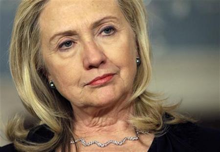 U.S. Secretary of State Hillary Clinton speaks to the media in Washington December 15, 2011. REUTERS/Yuri Gripas/Files