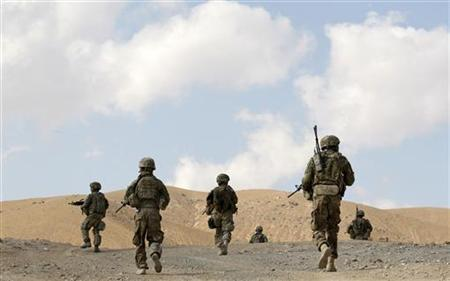 U.S. soldiers on patrol in eastern Afghanistan November 28, 2011. REUTERS/Umit Bektas