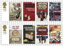 Почтовые марки,выпущенные Королевской почтой Великобритании, с изображением различных изданий романов о Джеймсе Бонде, 28 декабря 2007 г. Японские инженеры вдохнули вторую жизнь в классическую модель Toyota 2000GT, блиставшую в фильме о приключениях Джеймса Бонда 1967 года, однако на этот раз автомобиль стал полностью электрическим. REUTERS/Handout