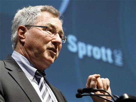 Sprott Inc. Chief Executive Officer Eric Sprott speaks during the annual general meeting of shareholders in Toronto May 12, 2010.    REUTERS/ Mike Cassese