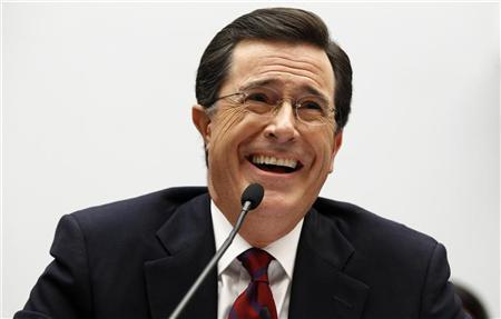 Stephen Colbert, host of Comedy Central's ''The Colbert Report'', testifies before the Immigration, Citizenship, Refugees, Border Security, and International Law Subcommittee hearing on Protecting America's Harvest on Capitol Hill in Washington September 24, 2010. REUTERS/Kevin Lamarque