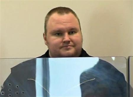 Megaupload founder Kim Dotcom appears in Auckland's North Shore District Court after his arrest in this still image taken from a January 20, 2012 video. REUTERS/TVNZ via Reuters TV