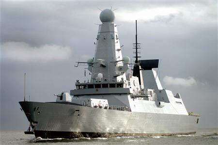 The Royal Navy Type 45 destroyer HMS Dauntless arrives in her home port of Portsmouth in a December 2, 2009 file photo. REUTERS/MoD/Crown Copyright/handout