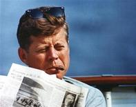<p>President John F. Kennedy in an undated photograph courtesy of the John F. Kennedy Presidential Library and Museum. REUTERS/JFK Presidential Library and Museum/Handout</p>
