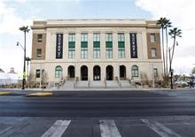 <p>An exterior view of The Mob Museum in Las Vegas, Nevada February 13, 2012. REUTERS/Steve Marcus</p>