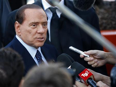 Former Italian Prime Minister and Popolo della Liberta (PDL) party President Silvio Berlusconi arrives at the European People's Party (EPP) congress in Marseille, December 8, 2011. REUTERS/Philippe Laurenson
